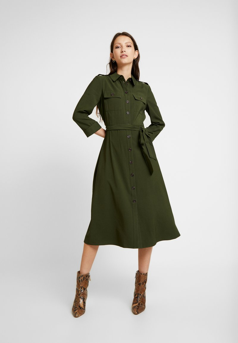 Warehouse - DRESS - Shirt dress - khaki