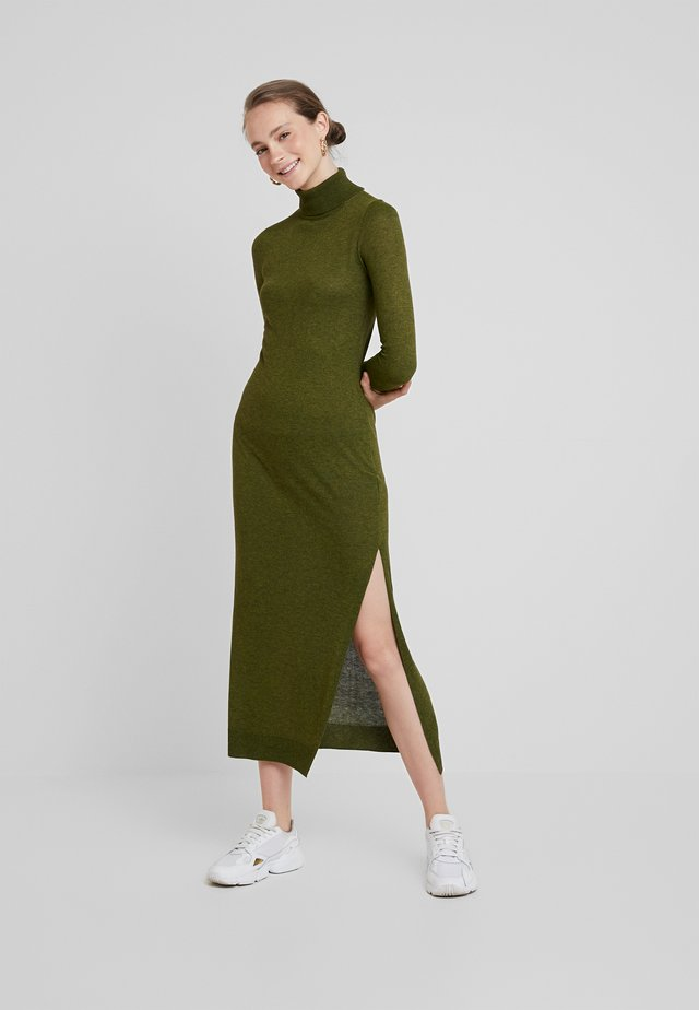 ROLL NECK DRESS - Maxikleid - khaki