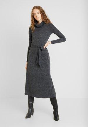 COWL NECK MIDI DRESS - Jersey dress - grey