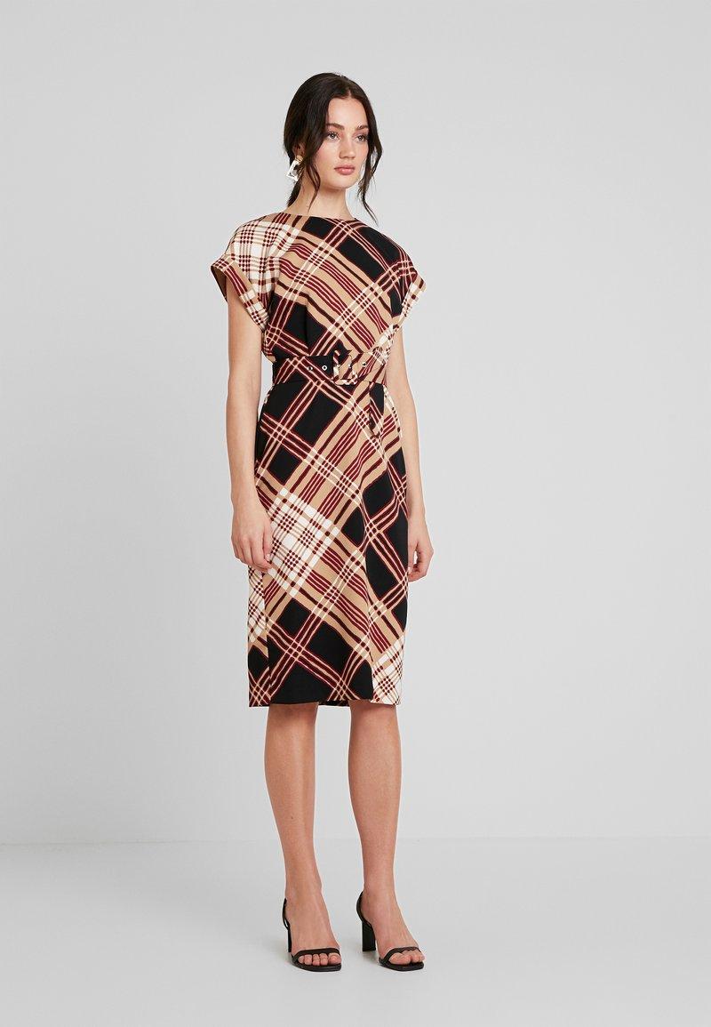 Warehouse - CHECK SOFT SHIFT DRESS - Kjole - multi