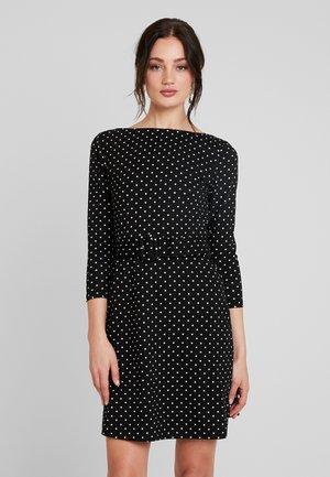 SLASH NECK DRESS - Day dress - black
