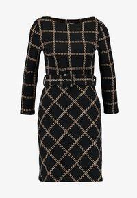 Warehouse - CHECK PONTE DRESS - Jersey dress - black - 4