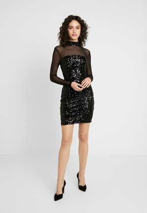SLEEVE DRESS - Cocktailjurk - black