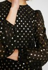 Warehouse - FOIL MINI DRESS - Korte jurk - gold