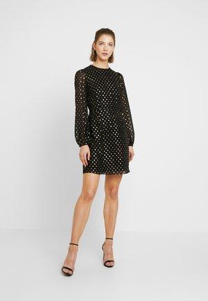 FOIL MINI DRESS - Denní šaty - gold