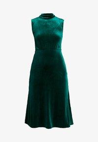 Warehouse - HIGH NECK DRESS - Day dress - black - 5