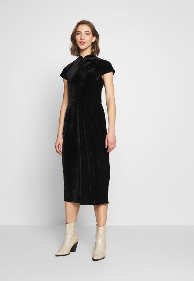 ORIENTAL NECK MIDI DRESS - Cocktailkleid/festliches Kleid - black