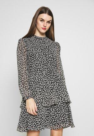 LITTLE LEAF SMOCK MINI DRESS - Vestido informal - black