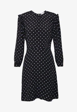SPOT PRINT MINI DRESS - Denní šaty - black