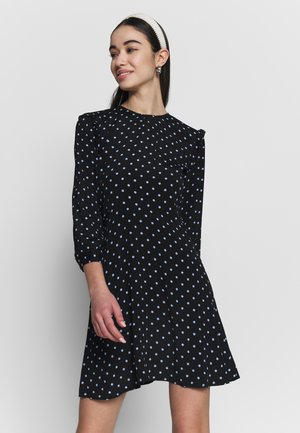 SPOT PRINT MINI DRESS - Vestido informal - black