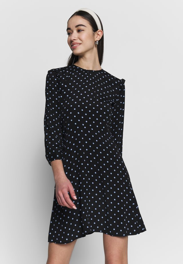 SPOT PRINT MINI DRESS - Vapaa-ajan mekko - black