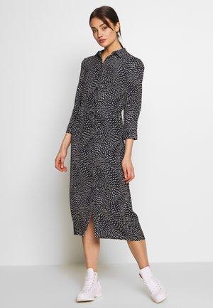 KIKA MOVEMENT MIDI SHIRT DRESS - Košilové šaty - black