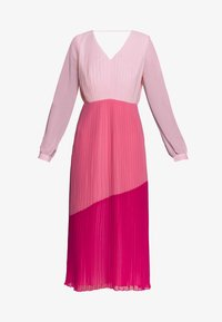 Warehouse - PLEATED COLOUR BLOCK MIDI DRESS - Day dress - multi - 4