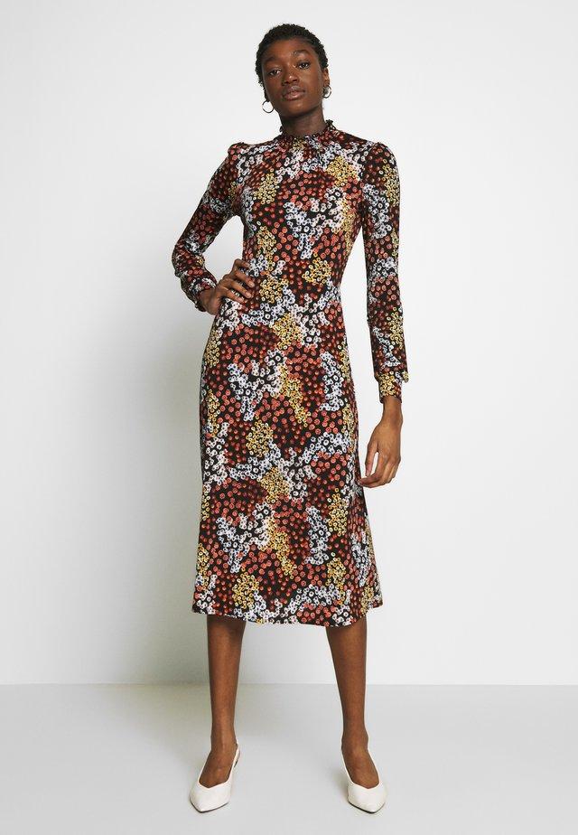 FLORAL PRINT MIDI DRESS - Korte jurk - multi