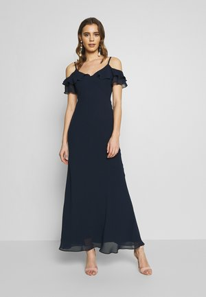 COLD SHOULDER BUTTON BACK - Iltapuku - navy