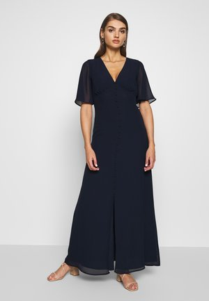 SLEEVE BUTTON FRONT MAXI DRESS - Occasion wear - navy