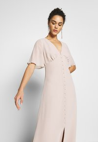Warehouse - BUTTON FRONT MAXI DRESS - Iltapuku - taupe - 3