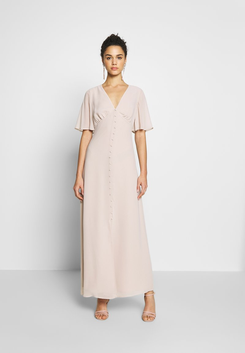 Warehouse - BUTTON FRONT MAXI DRESS - Iltapuku - taupe