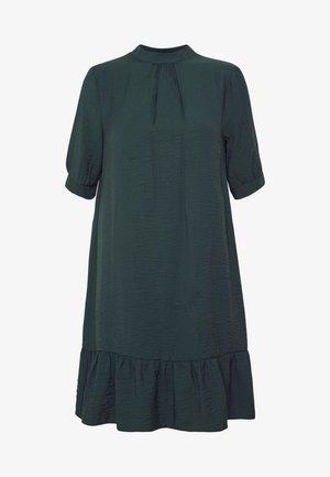 BUBBLE SLEEVE FRILL HEM DRESS - Freizeitkleid - dark green