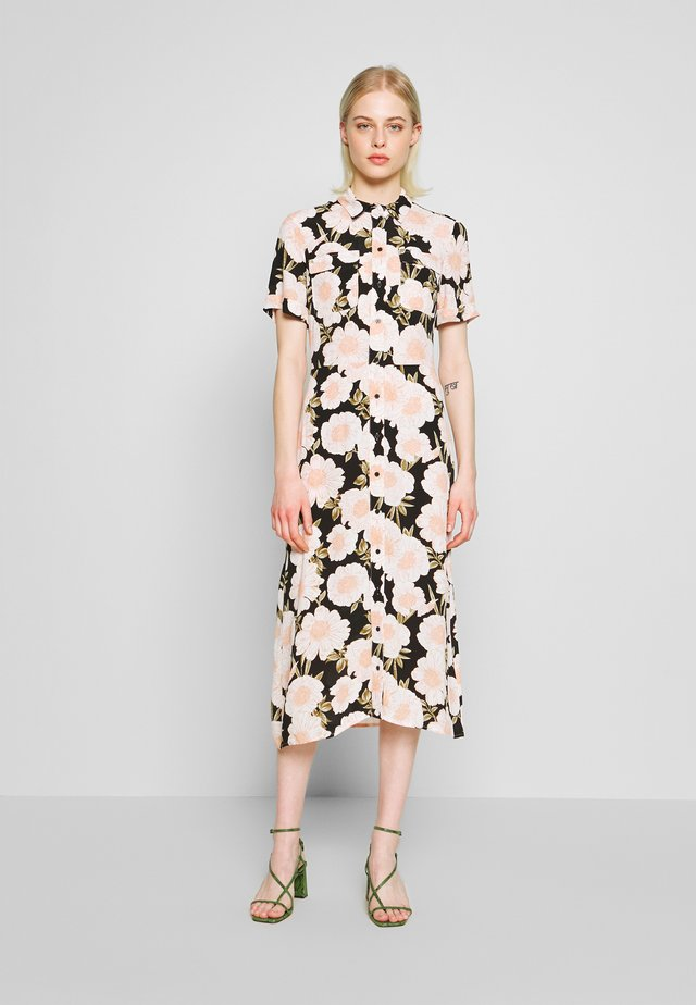 GARDNIA FLORAL MIDI SHIRT DRESS - Blusenkleid - multi