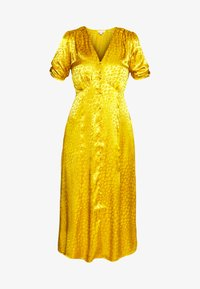 Warehouse - BUTTON THROUGH JACQUARD DRESS - Day dress - ochre - 4