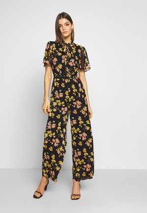 PETAL PRINT SLEEVE - Jumpsuit - black