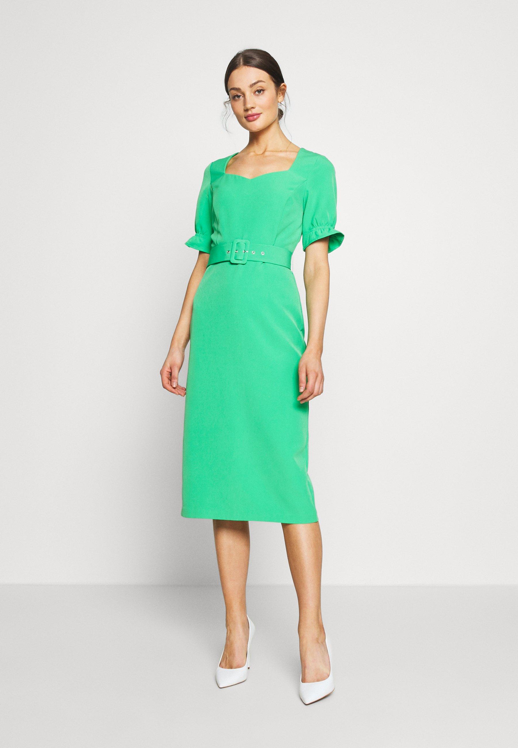Warehouse SWEETHEART BELTED PENCIL DRESS - Sukienka etui - green