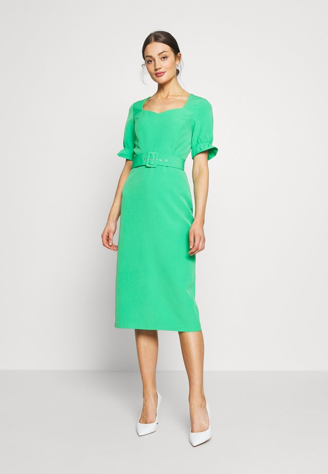 SWEETHEART BELTED PENCIL DRESS - Etuikleid - green