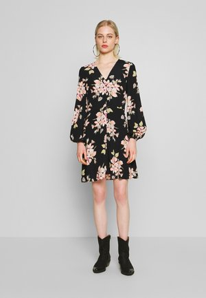 FLORAL BUTTON FRONT MINI TEA DRESS - Robe d'été - multi