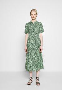 Warehouse - DITSY MIDI DRESS - Skjortekjole - green - 0
