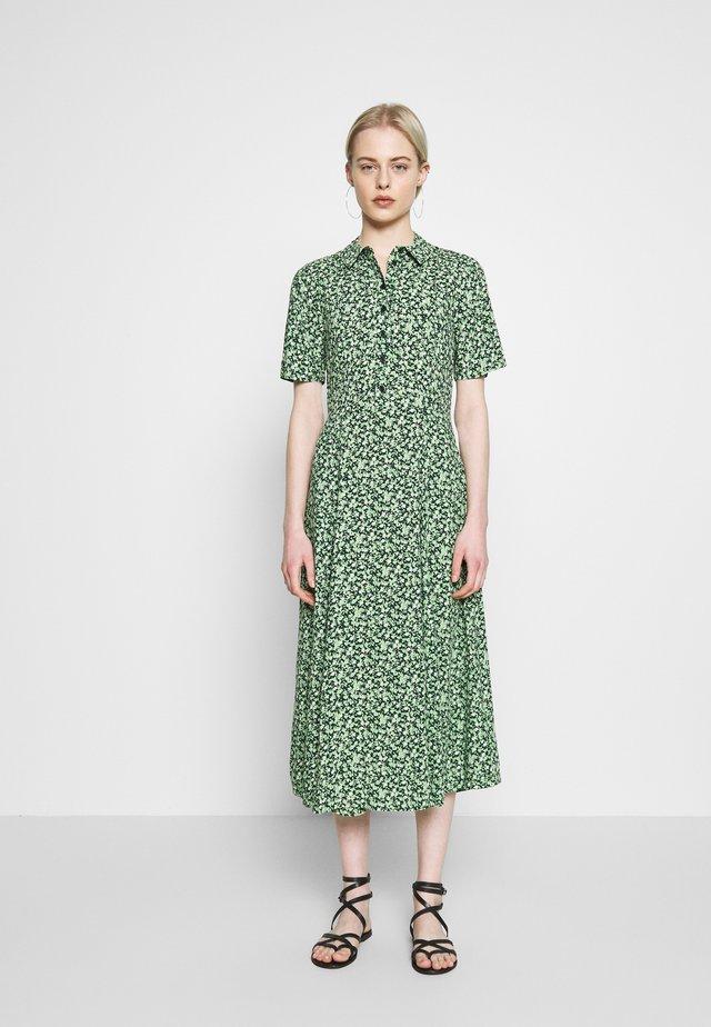 DITSY MIDI DRESS - Shirt dress - green