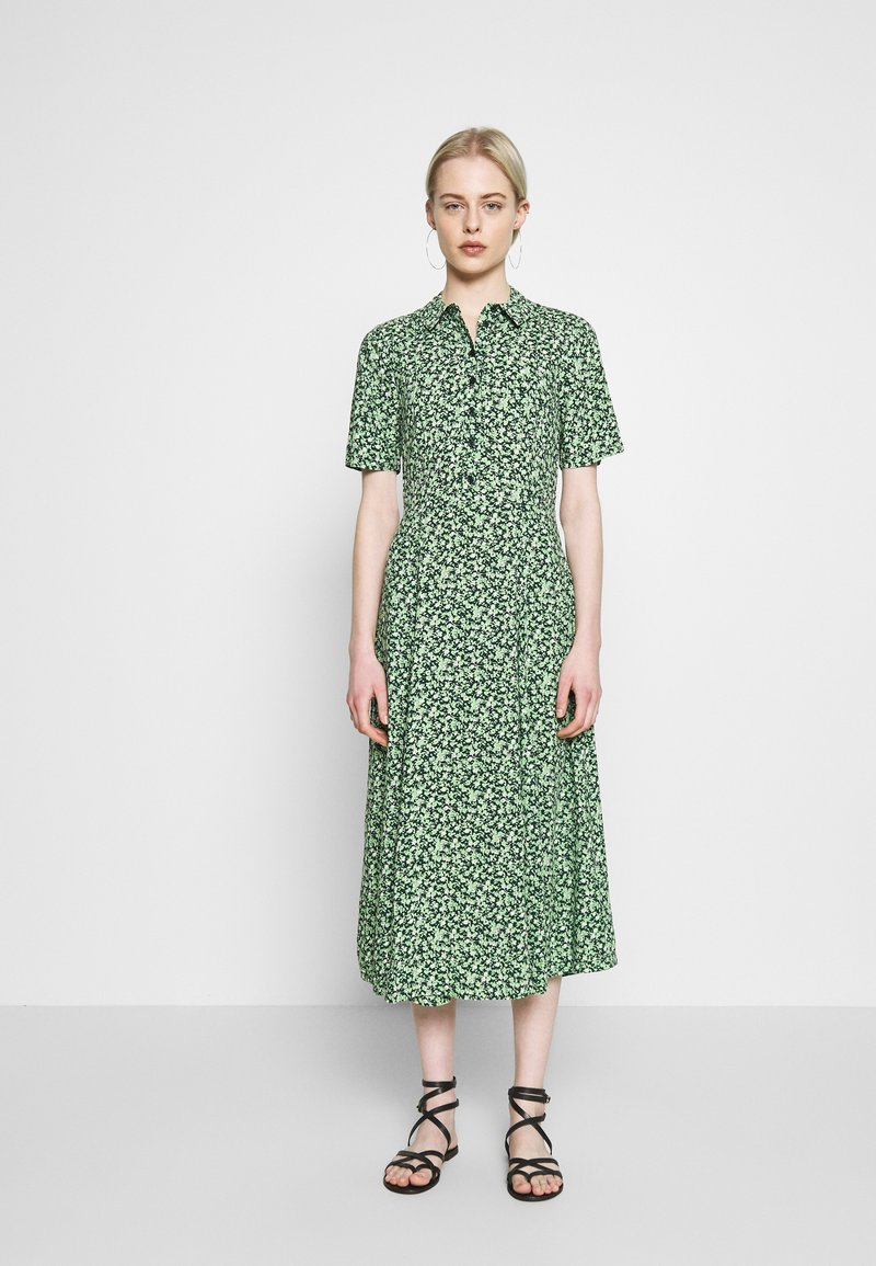 Warehouse - DITSY MIDI DRESS - Skjortekjole - green