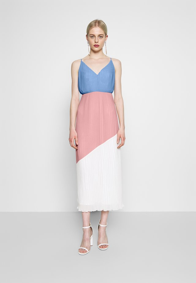 COLOURBLOCK CAMI DRESS - Cocktailkleid/festliches Kleid - pale blue/pale pink/cream