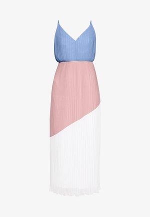 COLOURBLOCK CAMI DRESS - Cocktailjurk - pale blue/pale pink/cream