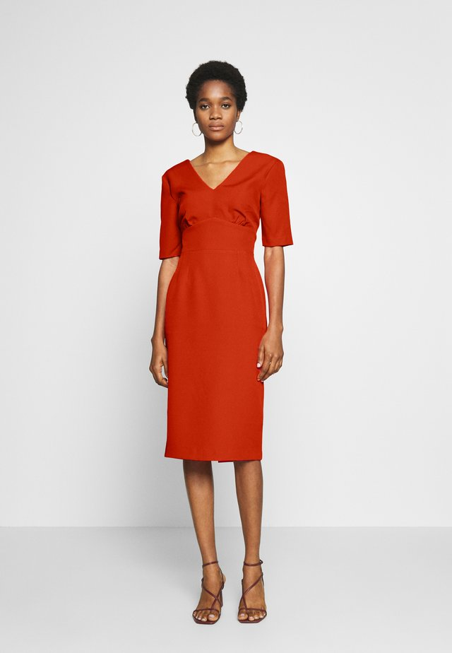 CREPE PENCIL DRESS - Shift dress - red
