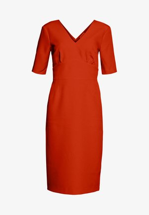 CREPE PENCIL DRESS - Sukienka etui - red