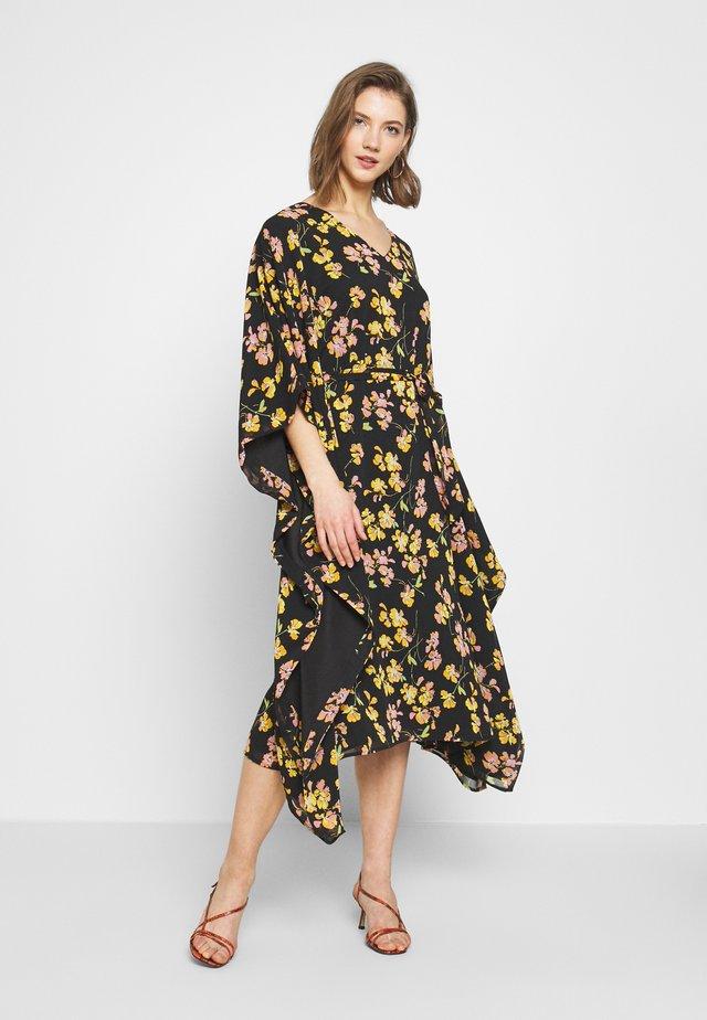 PETAL PRINT KAFTAN DRESS - Denní šaty - black