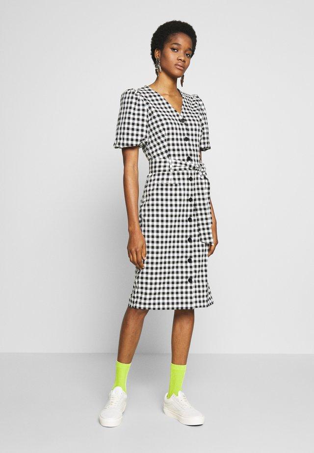 GINGHAM DRESS - Korte jurk - black/white
