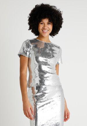 ASHISH X WAREHOUSE SEQUIN - T-shirt imprimé - silver
