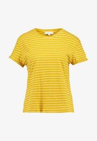 Warehouse - STRIPE CASUAL FIT TEE - T-shirt print - mustard & white - 3