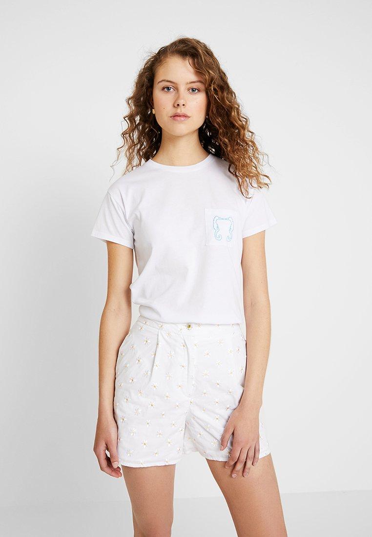 Warehouse - SHRIMPS SEAHORSE POCKET TEE - T-shirts print - white