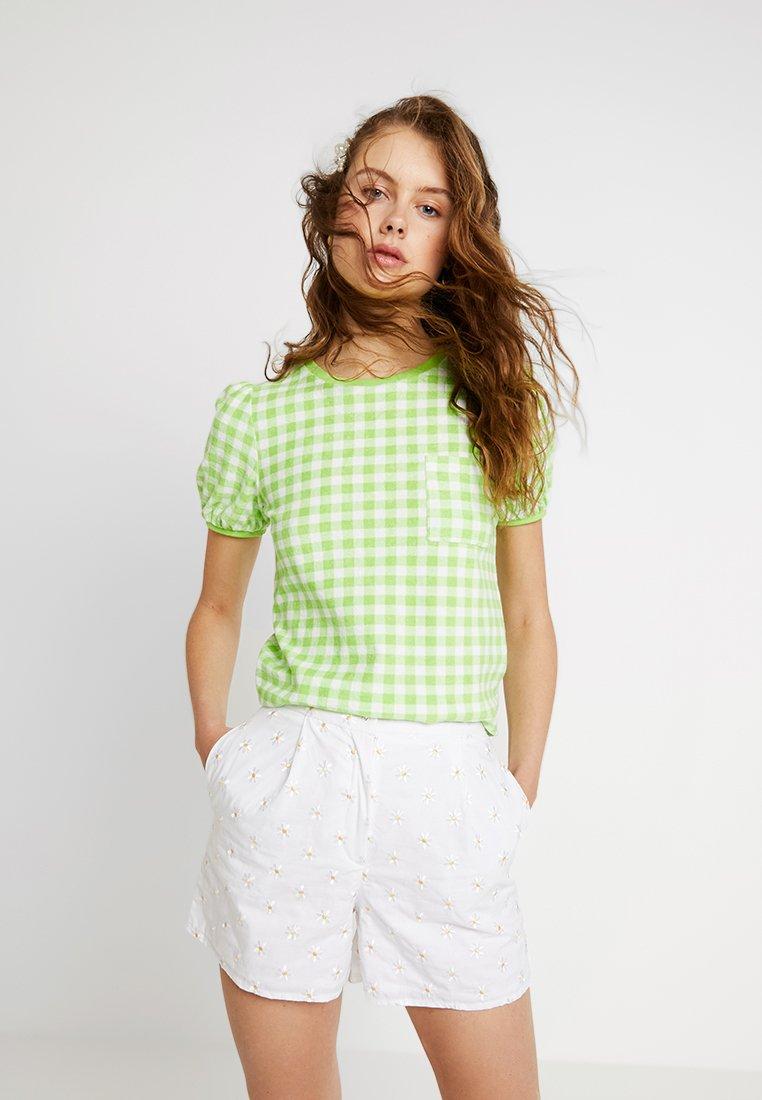 Warehouse - SHRIMPS GINGHAM TEE - T-Shirt print - green