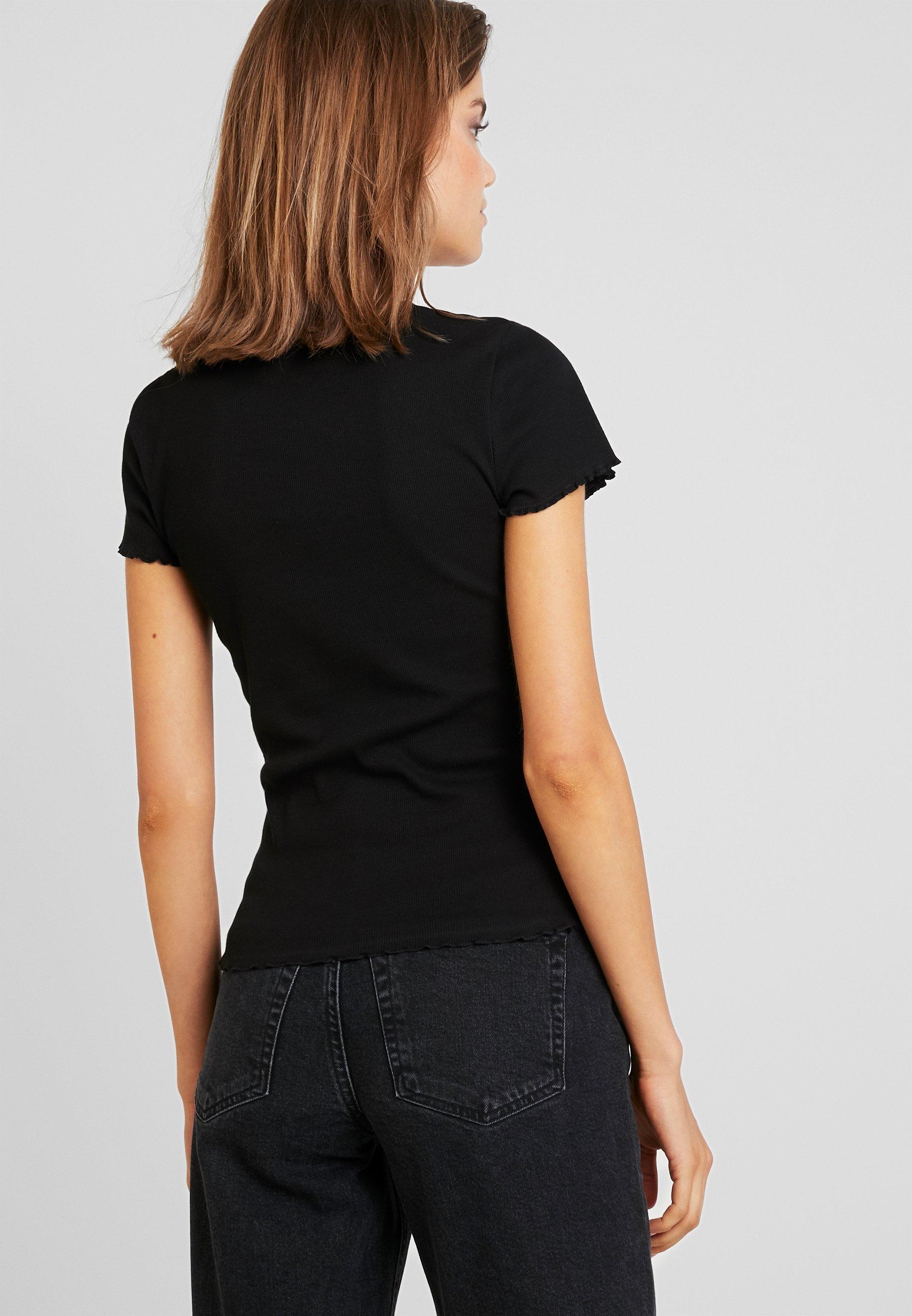 Lettuce Warehouse TeeT Edge shirt Basique Black Pk8nw0OX
