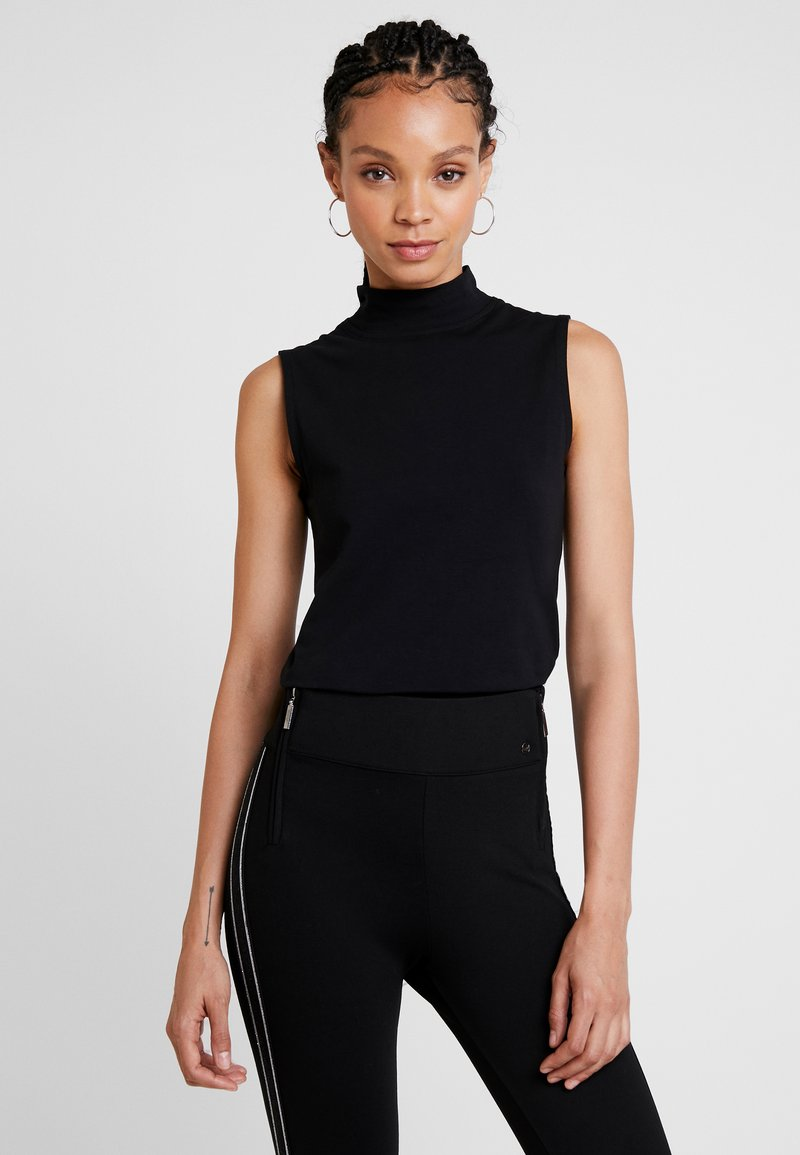 Warehouse - SLEEVELESS FUNNEL NECK - Top - black