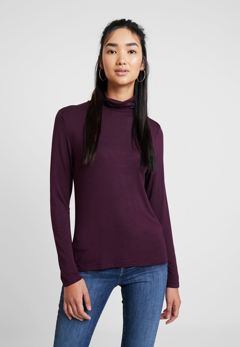 Warehouse - LONG SLEEVE ROLL NECK - Long sleeved top - dark red