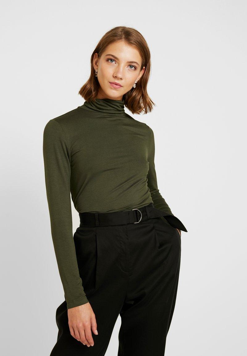 Warehouse - LONG SLEEVE ROLL NECK - T-shirt à manches longues - green