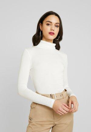 PREMIUM FUNNEL NECK - T-shirt à manches longues - white