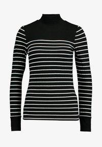 Warehouse - FUNNEL NECK TOP - Longsleeve - black/white - 3