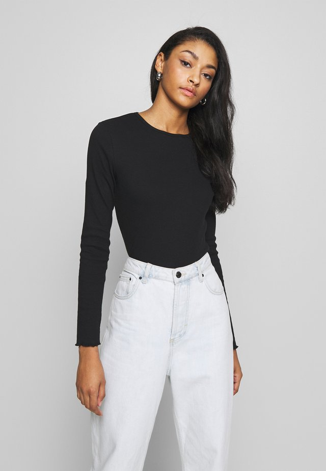 LETTUCE LONG SLEEVE TOP - Langærmede T-shirts - black