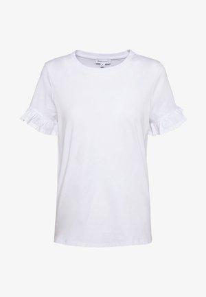 FRILL SLEEVE TEE - T-shirt print - white